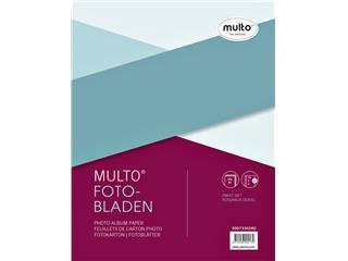 Interieur Multo fotobladen A4 23-rings met dekvel 20vel zwart