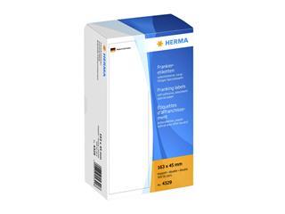 Frankeeretiket Herma 4329 dubbel 163x45mm 500stuks