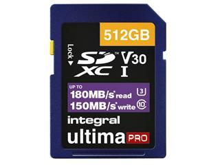 Geheugenkaart Integral SDXC 512GB
