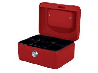Geldkist Quantore 150x115x80mm rood