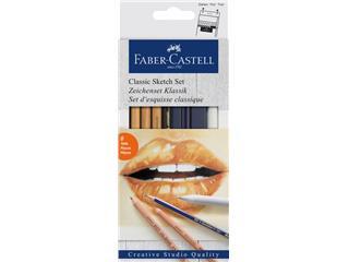 Grafietpotloden Faber Castell Goldfaber Classic set 6-delig
