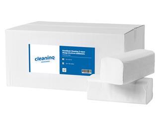 Handdoek Cleaninq Z-vouw 2laags 21x25cm 3200stuks