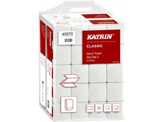 Handdoek Katrin 45570 Zig-Zag 2laags 23x23cm 20x200st