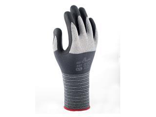 Handschoen Showa 381 grip nitril S grijs