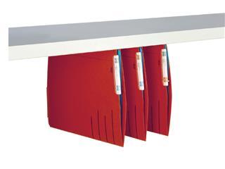 Hangmap Secolor lateraal voor legbord rood