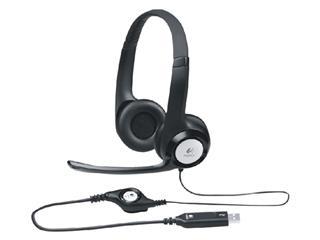 HEADSET LOGITECH H390 OVER EAR USB ZWART