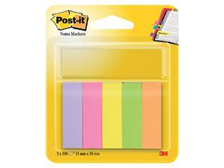 Markeerstrook Post-it 670 15x50mm papier assorti