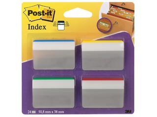 Indextabs 3M Post-it 686 38x50.8mm strong gebogen assorti