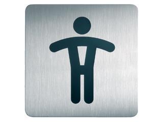 Infobord pictogram Durable 4954 vierkant wc heren 150mm
