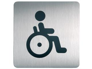 Infobord pictogram Durable 4959 vierkant WC invalide 150mm