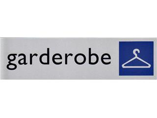 Infobord pictogram garderobe 165x44mm
