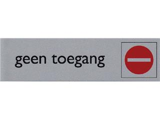 Infobord pictogram geen toegang 165x44mm