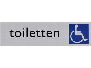 Infobord pictogram toilet rolstoel 165x44mm