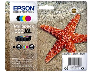 Inktcartridge Epson 603XL T03A6 zwart + 3 kleuren
