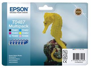 Inktcartridge Epson T0487 zwart + 5 kleuren