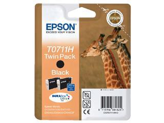 Inktcartridge Epson T0711 zwart 2x HC