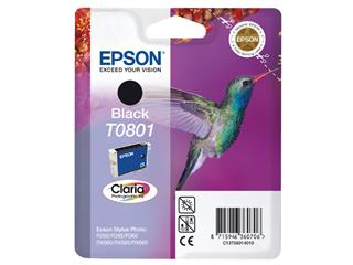 Inktcartridge Epson T0801 zwart