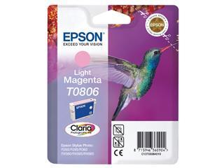 Inktcartridge Epson T0806 lichtrood