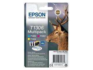 Inktcartridge Epson T1306 3 kleuren HC