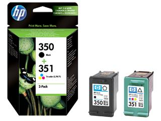Inktcartridge HP SD412EE 350 + 351zwart + kleur