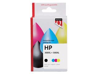 Inktcartridge Quantore HP CC641EE CC644EE 300XL zwart + kleur