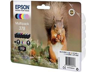 Inktcartridge Epson 378 T3798 6 kleuren