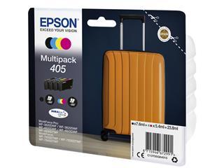 Inktcartridge Epson 405 zwart + 3 kleuren