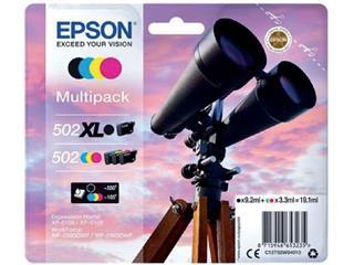 Inktcartridge Epson 502XL 502 T02W9 502XL zwart + 3 kleuren