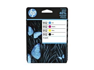 Inktcartridge HP 6ZC74AE 912 zwart + 3 kleuren