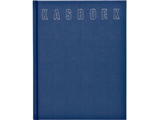 Kasboek 165x210mm 96blz 1 kolom blauw