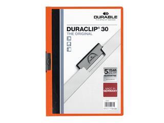 Klemmap Durable 2200 A4 3mm oranje
