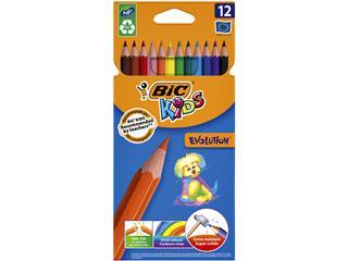 Kleurpotloden Bic Kids evolution Ecolutions etui à 12 stuks