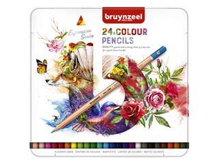 Kleurpotloden Bruynzeel Expression colour blik à 24 stuks