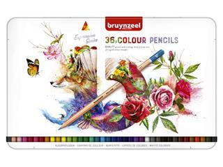 Kleurpotloden Bruynzeel Expression colour blik à 36 stuks assorti