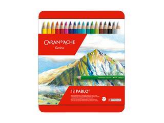Kleurpotloden Caran d'Ache Pablo assorti blik à 18stuks