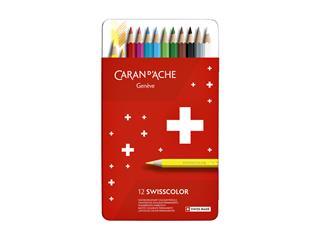 Kleurpotloden Caran d'Ache Swisscolor 12stuks ass