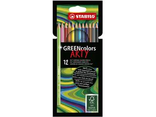 Kleurpotloden STABILO Greencolors 6019/12-1-20 etui à 12 stuks
