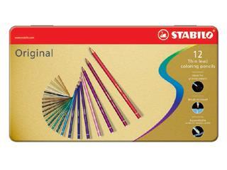 Kleurpotloden STABILO Original blik à 12 kleuren