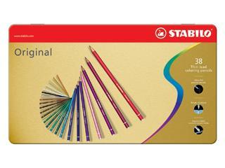 Kleurpotloden STABILO Original blik à 38 kleuren