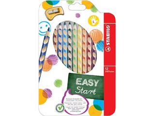 Kleurpotloden STABILO Easycolors linkshandig etui à 12 kleuren met puntenslijper