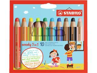 Kleurpotloden STABILO Woody 880/10 etui à 10 kleuren