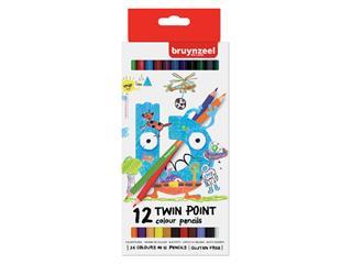 Kleurpotlood Bruynzeel Kids Twin Point blister à 12 stuks assorti