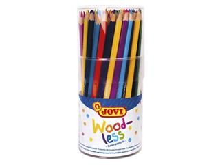 Kleurpotlood Jovi triangle houtvrij set à 84 kleuren ass