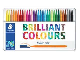 Kleurstift Staedtler 323 Triplus color blik à 30 assorti