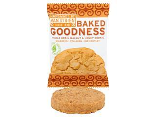 Koeken Van Strien Baked Goodness walnoot/honing bio 20x35gr