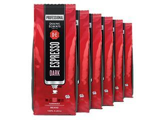 Koffie Douwe Egberts espresso bonen dark roast 1000gr