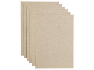 Kopieerpapier Papicolor A4 220gr 6vel kraft grijs