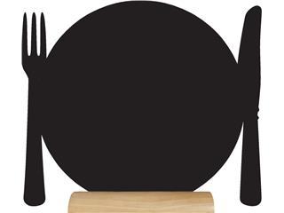 Krijtbord Securit bord 24x25x6cm houten voet