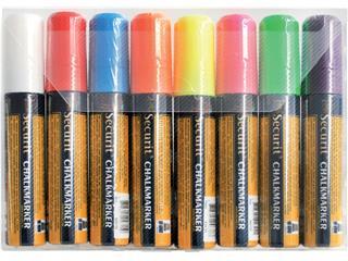 Krijtstift Securit SMA-720 blok ass 7-15mm blister à 8st