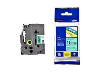 Labeltape Brother P-touch TZE-741 18mm zwart op groen